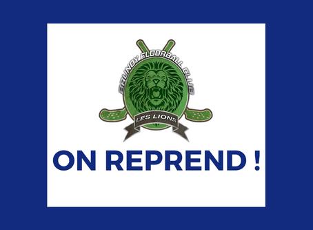 Reprise des entraînements à partir du mardi 23/06 - sur inscription - /!\ horaires modifiés