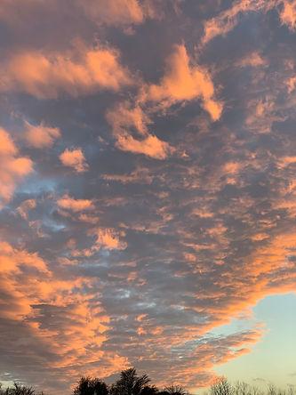 Charlotte Bullock_Wintery clouds sunset.
