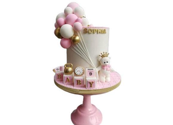 Kids Cake Bear with Baloons