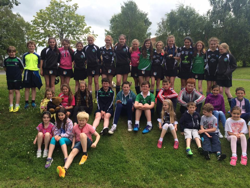 Granagh Ballingarry Community Games Camogie &  Draughts Team with supporters.jpg