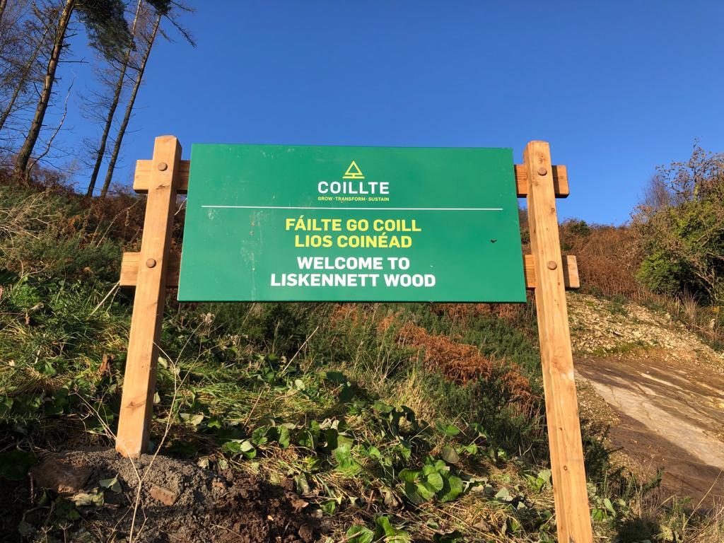 Coillte's new Sign, Dec '20