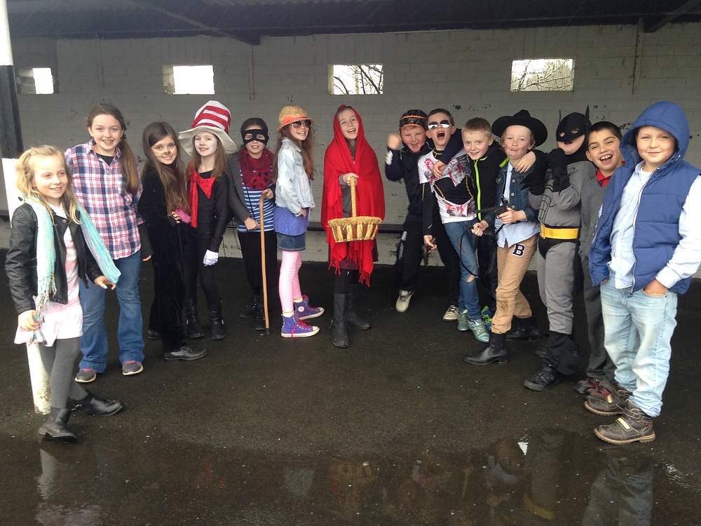 Granagh NS pupils dress up for World Book Day.