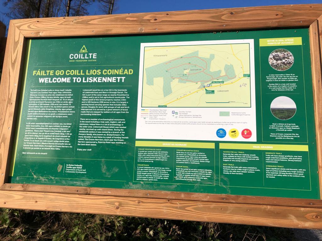Coillte's Trail Head Sign  Dec '20