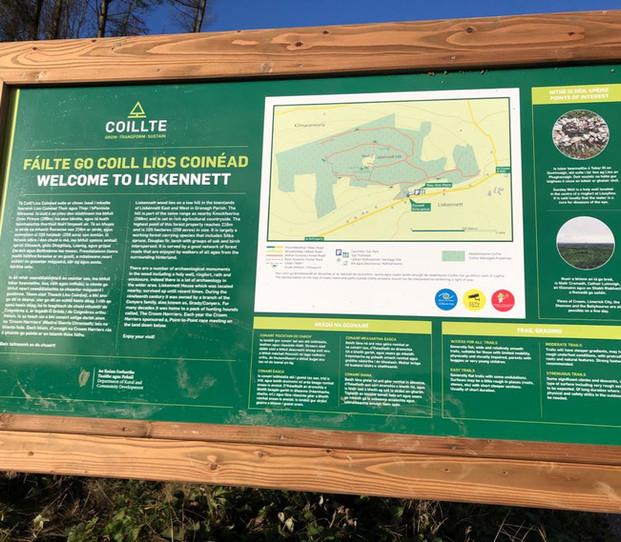 Coillte's Trail -Head Sign  Dec '20