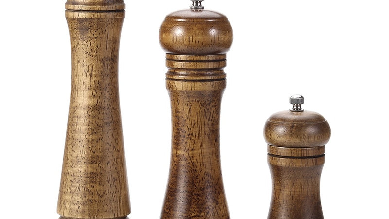 Salt and Pepper Mill, Wood Pepper Shakers - Kitchen Accessories
