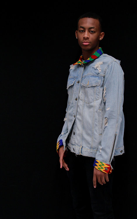 Denim Jacket med waxprint