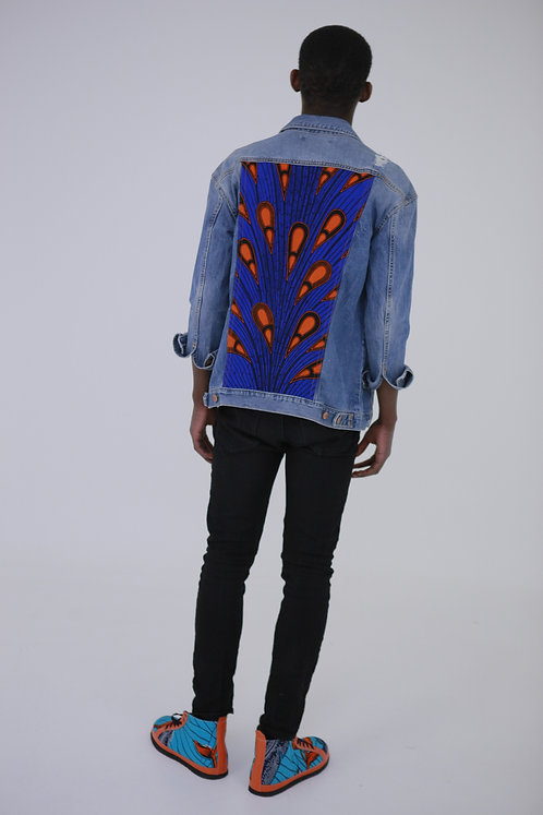 Back Print Light Denim Jacket