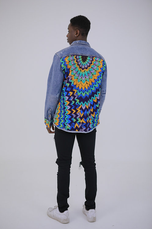 Back Print Denim Jacket