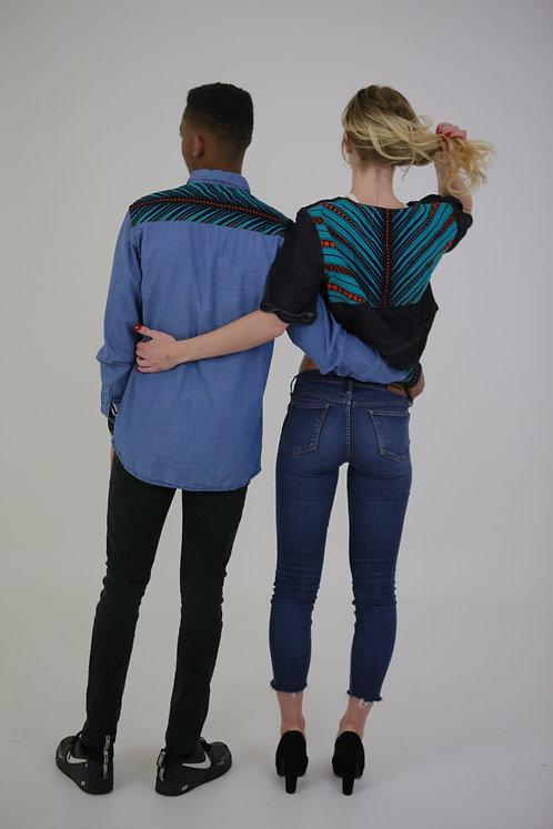 Back Print Crop Jacket