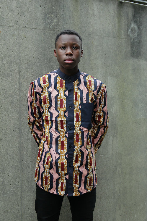 waxprint skjorte