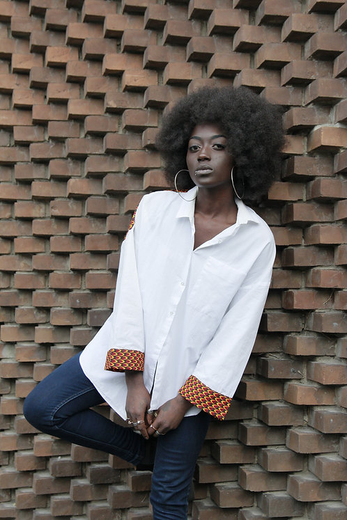 Skjorte dame med waxprint