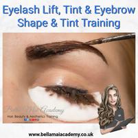 Eyelash Lift, Tint & Eyebrow Shape & Tint Training