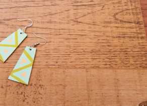 DIY - Cardboard earrings