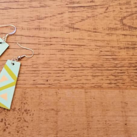 DIY - Cardboard earrings