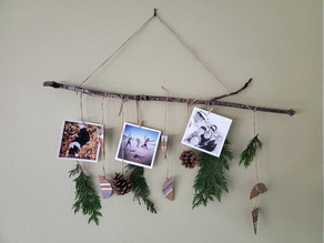 How to: Make a Wall Hanging for Holiday Cards & Photos