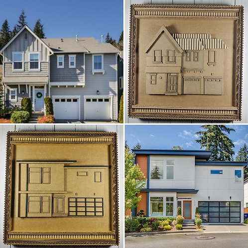 Custom House - Cardboard Frame