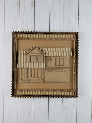 Cardboard Custom House AB2 - @alinescard