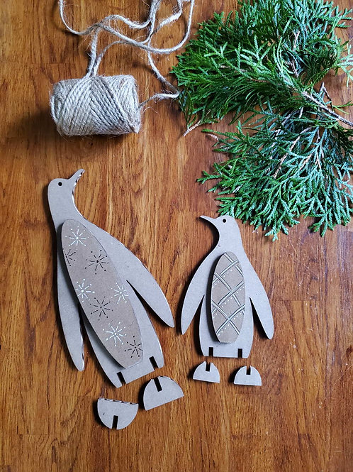Cardboard Penguins Duo