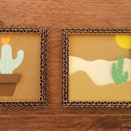 DIY - Cardboard and paper cactus