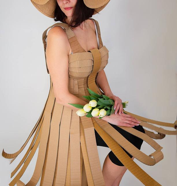 Cardboard Dress D1 - @alinescardboard
