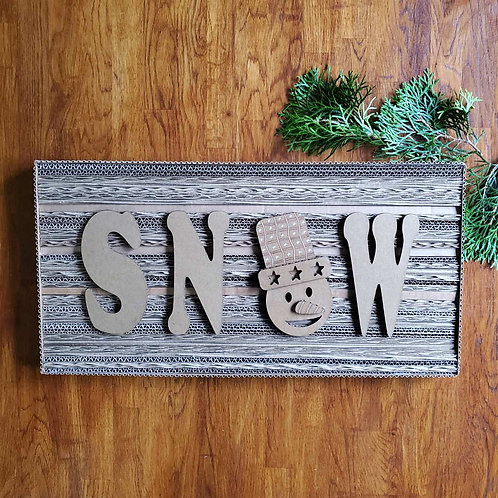 SNOW Cardboard Frame