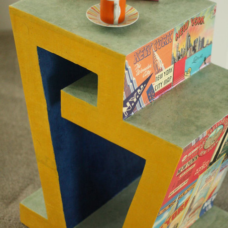 """Cardboard Side Table """"The New York"""""""