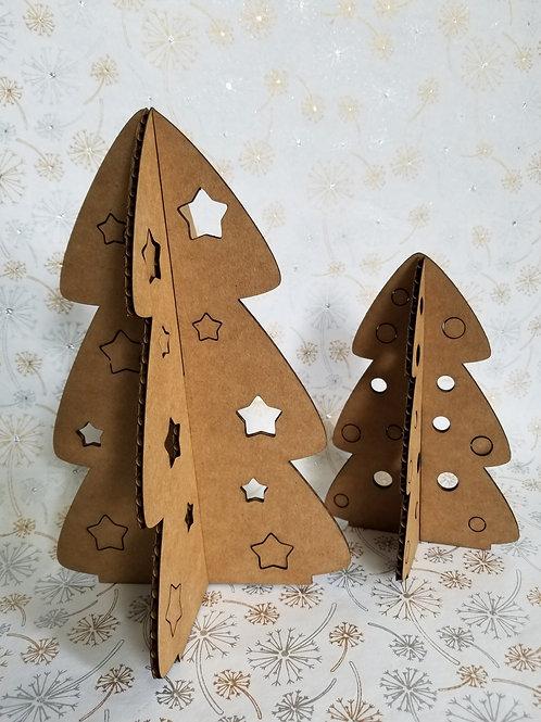Cardboard Tree Duo