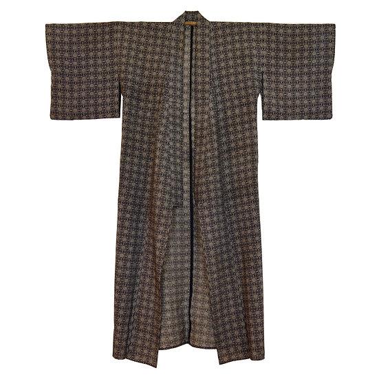 Monochrome Mandala Vintage Kimono