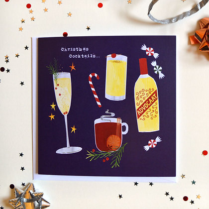 Christmas Cocktails Card