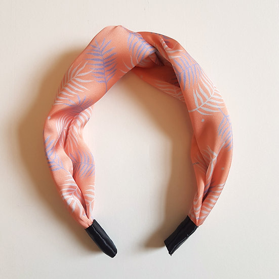 Pink Palm Leaf Headband
