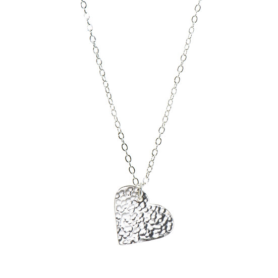 Silver Plated heart Necklace