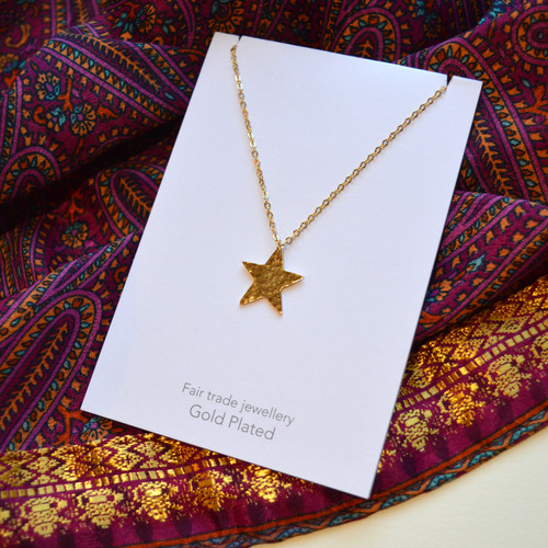 Gold Plated Star Necklace