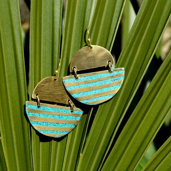 Mehek Striped Earrings