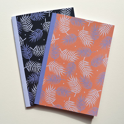 2 Palm Leaf Notebooks - A5