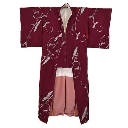 Crimson Vintage Kimono