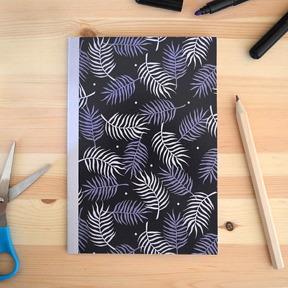 Blue PalmLeaf Notebook - A5