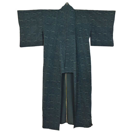 Blue Deer Vintage Kimono
