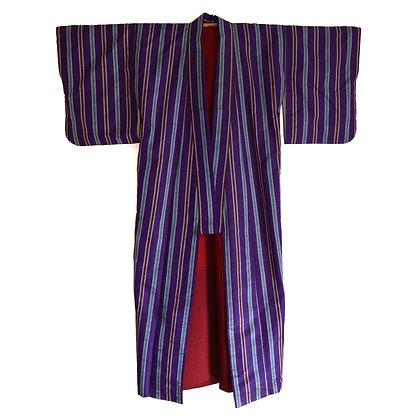 Purple Stripe Vintage Kimono