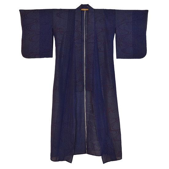Shimmering Waters Vintage Kimono