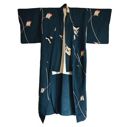 Ocean Depths Vintage Kimono