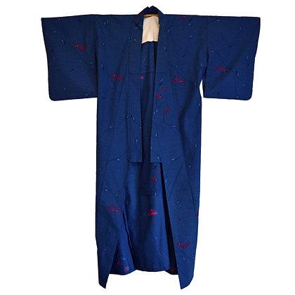 Blue Vine Vintage Kimono