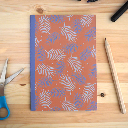 Pink Palm Leaf Notebook - A5