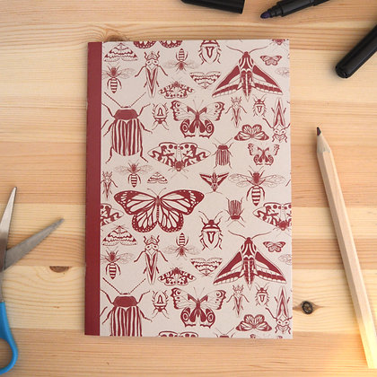Red Insects Notebook - A5
