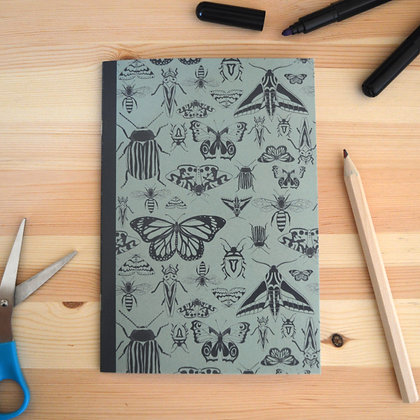 Green Insects Notebook - A5