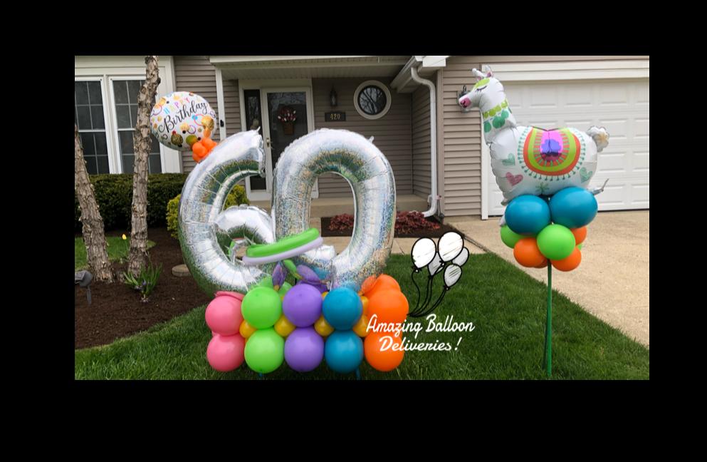 birthday balloon llama