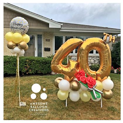Birthday -OR- Anniversary yard marquee