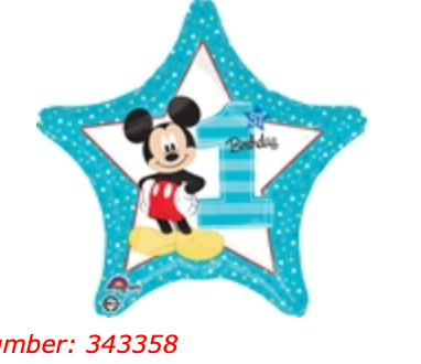 First Birthday Mickey 18 inch