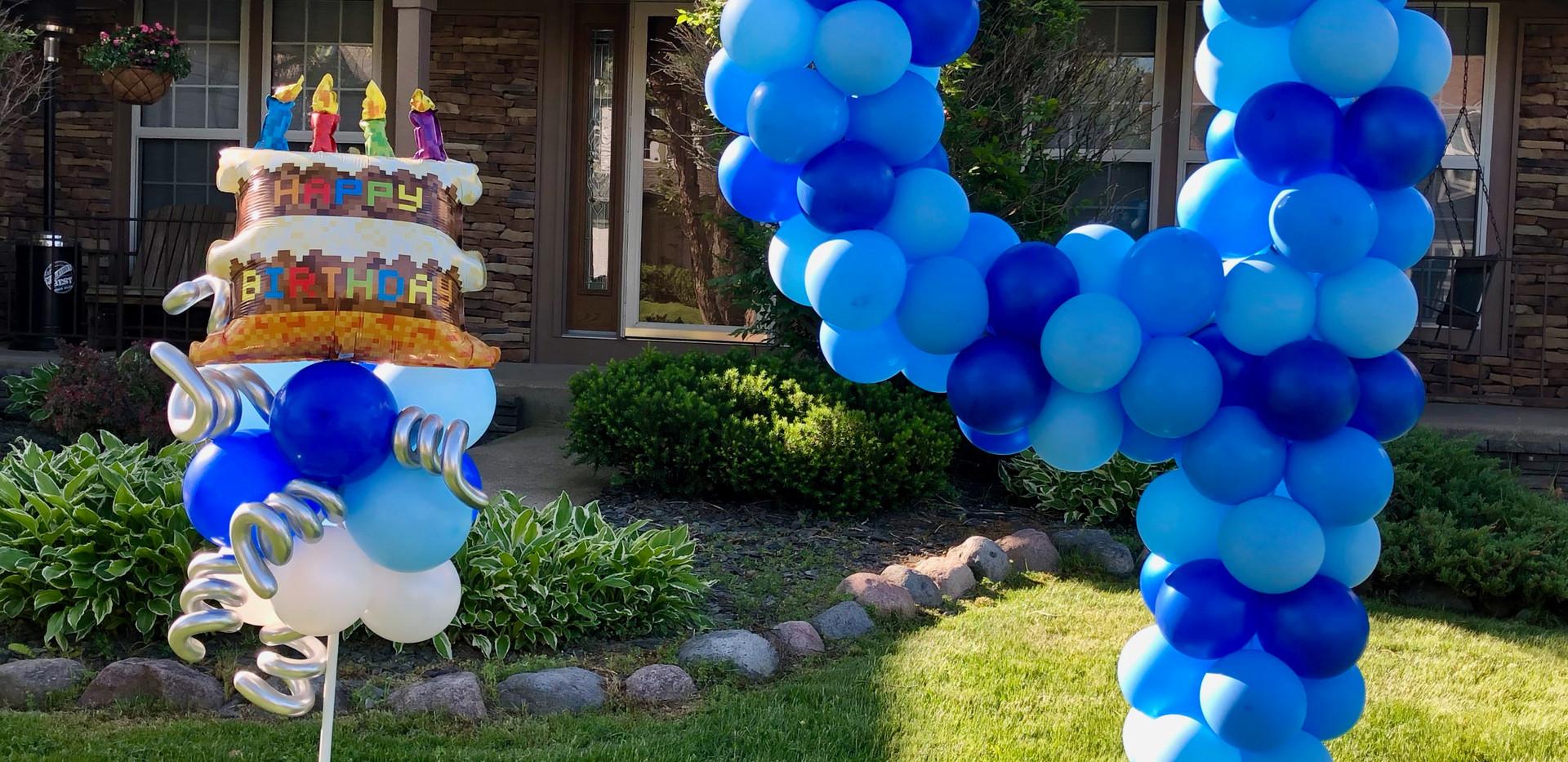 MineCraft Birthday Balloons