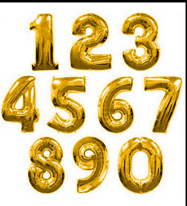 Gold 40inch Numbers