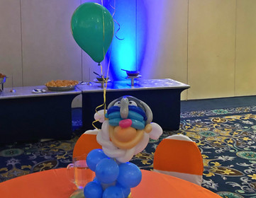 Themed Sculpture and 3 helium balloons-014